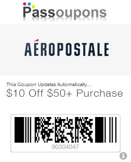 Aeropostale mobile coupons