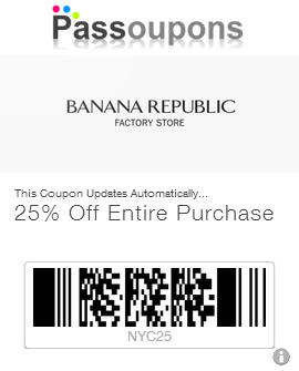 Banana Republic has an outlet store for both online and in-store shoppers. Checkout their outlet for savings up to 60% off site wide! New markdowns are added frequently and exclusively for the Banana Republic Factory Outlet, shoppers can get printable coupons or other savings from their deals page.