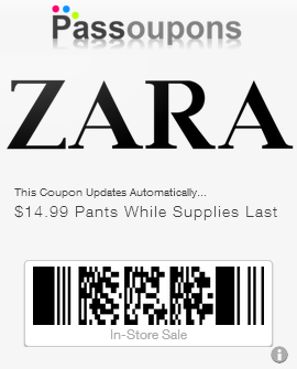 Coupons zara uk